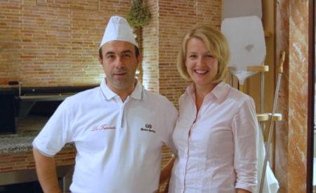 Guiseppe und Michaela Palermo in ihrem Restaurant La Traviata